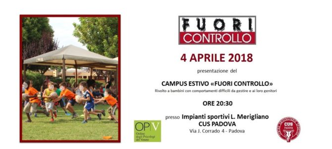 – 1 all'Evento Campus Estivo FUORI CONTROLLO!