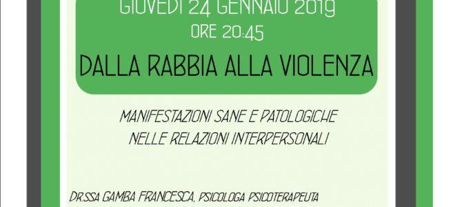"""Serata """"Dalla RABBIA alla VIOLENZA"""""""